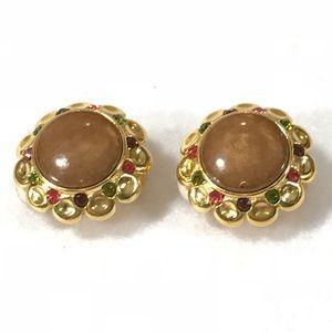 Joan Rivers clip on earrings